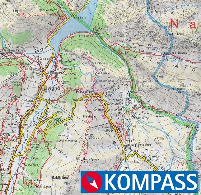 Cartina Geografica Livigno E Dintorni.Cicloweb Net Livigno